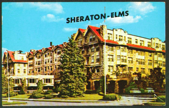 Sheraton-Elms Hotel Excelsior Springs MO postcard 60s