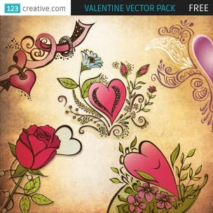 Because date of all lovers – 14.2. (Valentine) is near we prepared special gift for all designers, FREE vector Valentine pack. This pack includes 5 valentine themed vectors / illustrations, isolated on background, RGB, EPS 10. You can download it free of charge from following link:  http://www.123creative.com/holidays-vectors/834-free-valentine-vector-pack.html