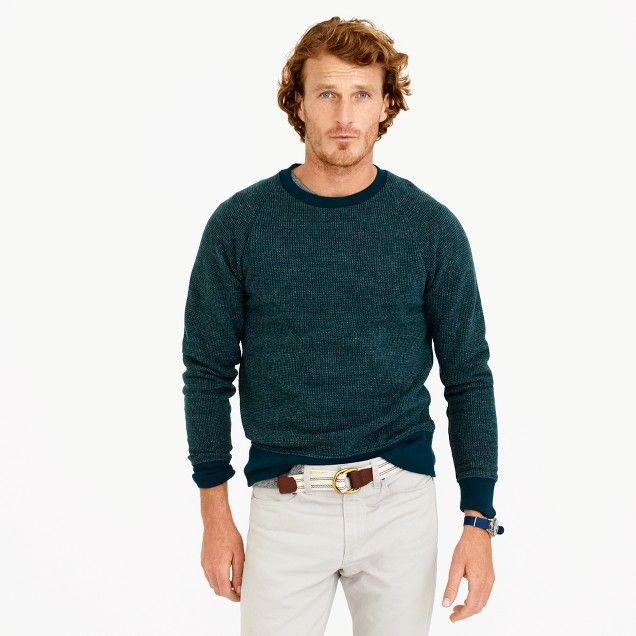 Bird's-eye sweatshirt : Men sweatshirts   J.Crew