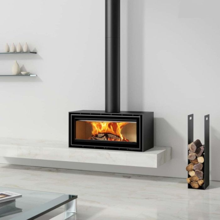 Adf Linea 85 Freestanding Wood Heater My Slice Of Life In 2021 Wood Heater Modern Wood Burning Stoves Standing Fireplace