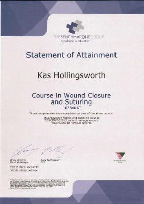 """Another Training Day with my colleague Tracey @ the Bench Marque Group in Cremore. Melbourne. """"Course in Wound Closure and Suturing"""" http://renaissanceskincare.com.au/"""