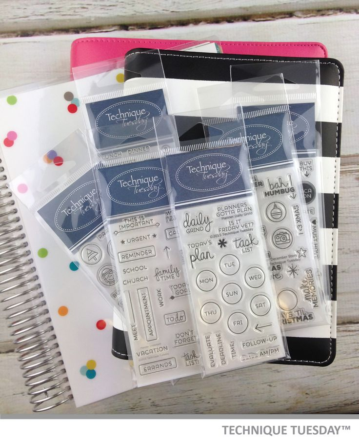 Are you a planner? Do you like to decorate your planner? TechniqueTuesday.com has planner stamps that work with many of the major planners out there. Many of the stamps sets are $5.99 each.