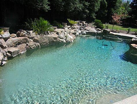 natural looking backyard pools natural looking pool concrete
