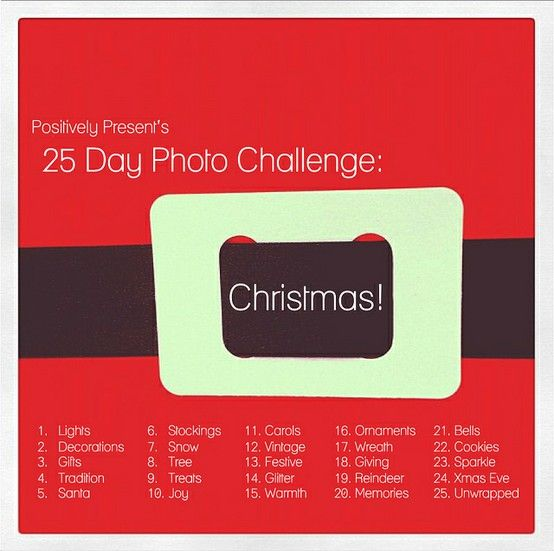 25 Days of Christmas Photo Challenge