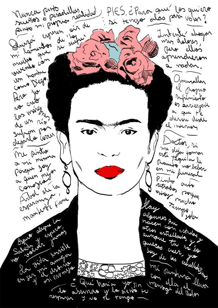 Un'opera d'arte è dopotutto uno stato mentale.  Frida Kahlo  #UniversoVersi #DonneInArte