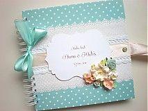 Svadba - Svadobná kniha hostí tyrkysová - 4038603_