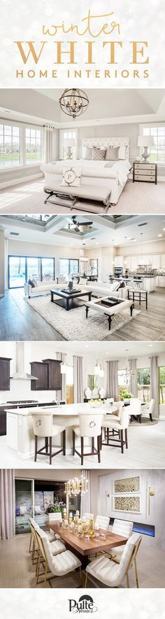 Accents and decor for your bedroom, kitchen, living space and more inspired by winter whites! | Pulte Homes