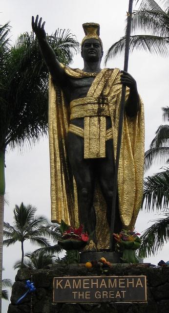 Kamehameha the Great, conquered the Hawaiian Islands and formally established the Kingdom of Hawaiʻi in 1810.  Kamehameha's full Hawaiian name is Kalani Paiʻea Wohi o Kaleikini Kealiʻikui Kamehameha o ʻIolani i Kaiwikapu kaui Ka Liholiho Kūnuiākea.