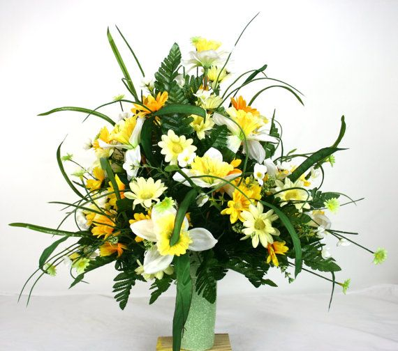 Gorgeous Spring Cemetery Flower Arrangement By Crazyboutdeco Pinterest Mini Mall Viral Board