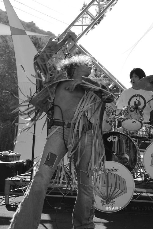 The Who at Woodstock 1969   Roger Daltry, The Who Woodstock, 1969 Not quite sure why this isn't ...
