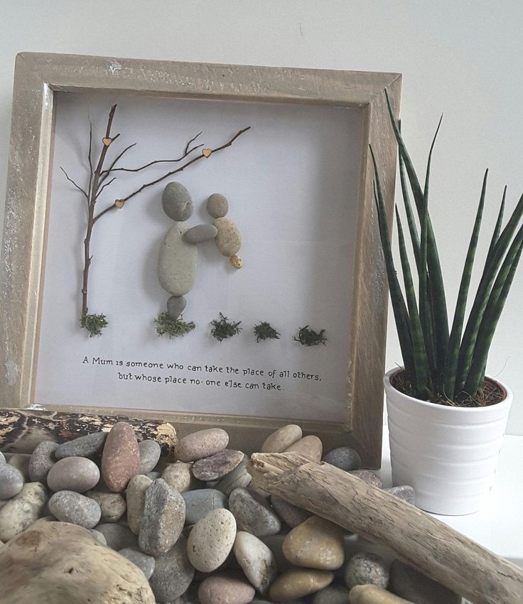 Mothers day gift Pebble art gift for her by CoastalPebblesShop