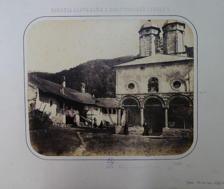 The porch of Cozia Monastery church (Valcea County)