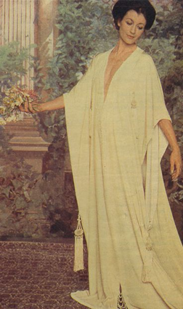 Carla Fracci in a dress belonging to Eleonora Duse.