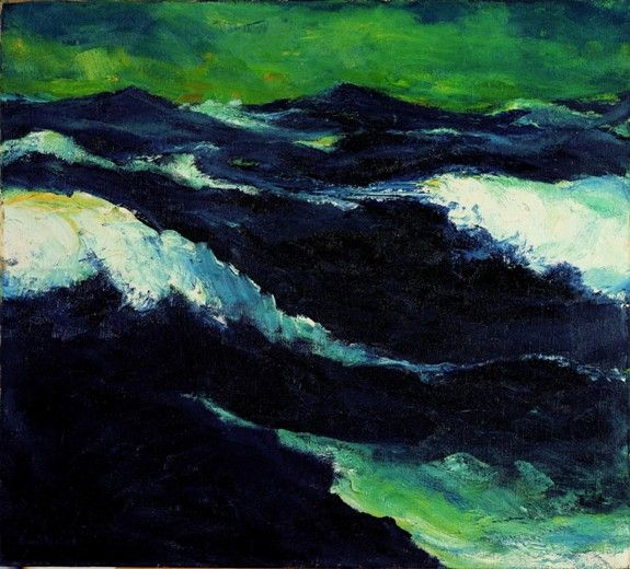 The Sea III, 1913, Emil Nolde. German Expressionist Painter (1867 - 1956)