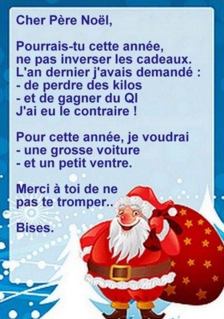3 lettres drôles pour le Père Noël !