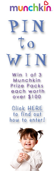 Enter the Munchkin Pin to Win for your chance to win 1 of 3 prize packs worth over $100 each! #Munchkin #PinToWin #Baby