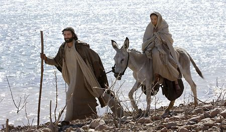 Heading for Bethlehem - Mary, the living tabernacle, carries the Bread of Life in her womb.