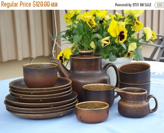 Summer sale 20% Gefle Uppsala Ekeby Cuba Tea Set. 15 pieces.
