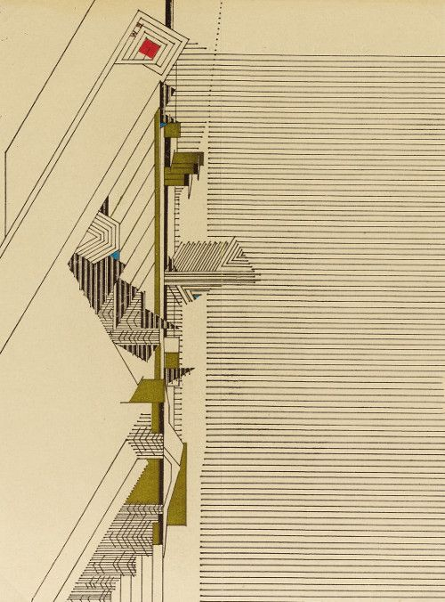Frank Lloyd Wright, 1946 |Source A sheet of architect Frank Lloyd Wrights personal stationery