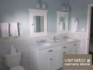 White Subway Tile Bathroom Ideas 00sf Carrara Subway Tile Marble 3x6 Traditional