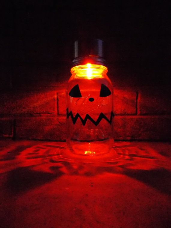 Solar Mason Jar Halloween Pumpkin Orange Outdoor Solar Light Decor Halloween Pumpkin Solar Light  Colored Solar Holiday Lighting Ball Jar