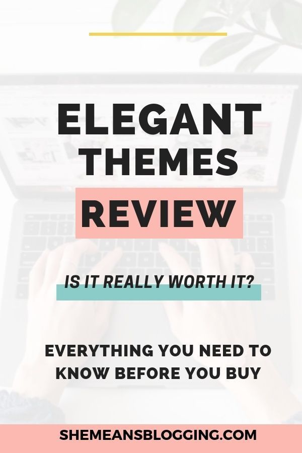 WordPress Themes Elegant Themes Line