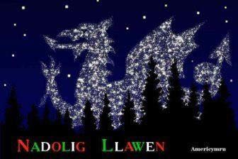 Merry Christmas in Welsh roughly pronounced NAH-doll-ig la-win #Wales