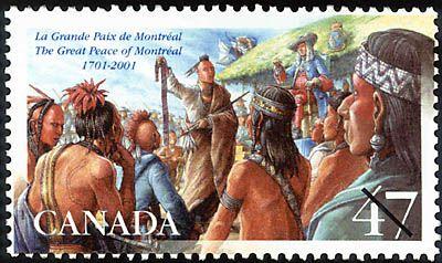 Great Peace of Montréal 1711-2011. Stamp.