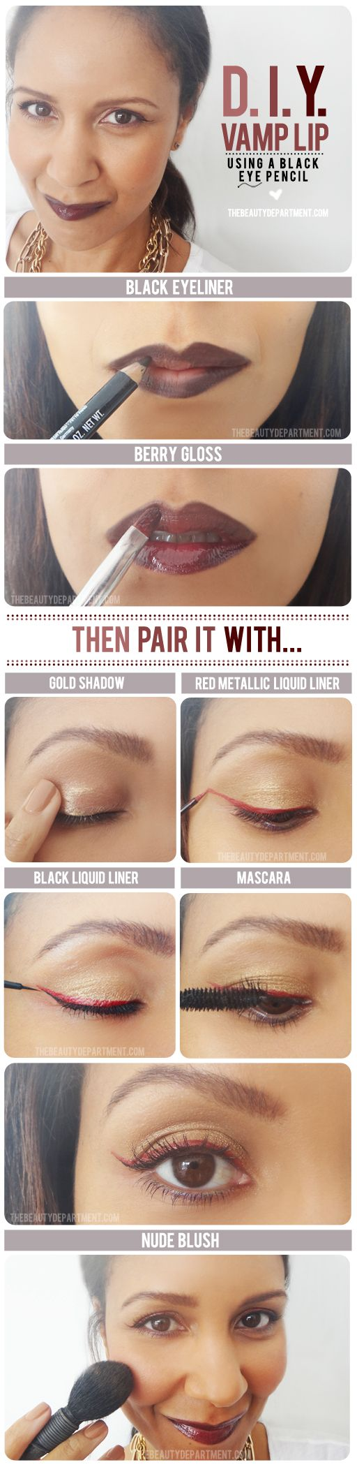 TheBeautyDepartment.com - DIY Vamp Lip