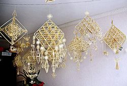 Lithuanian straw decorations
