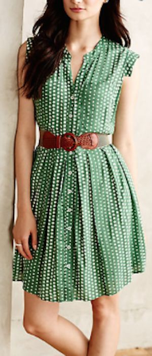 cute polka dot shirt dress http://rstyle.me/n/qit9rr9te