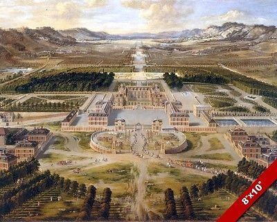 Palace of versailles #paris #france landscape #painting art real canvas print,  View more on the LINK: http://www.zeppy.io/product/gb/2/331653291285/
