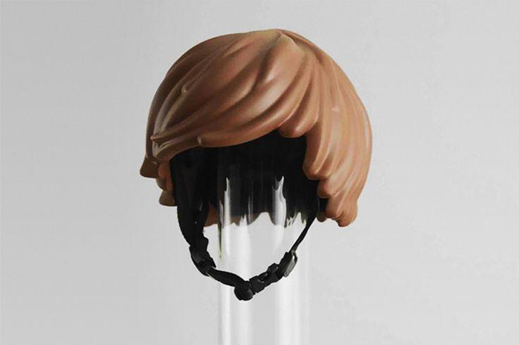 Helmet Hair: Fahrradhelm im Playmobil-Look