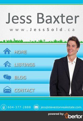 Custom Real Estate mobile website for realtor Jess Baxter