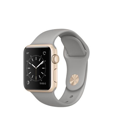 Introducing Apple Watch Series 2 featuring built-in GPS in a 38mm Gold Aluminium…