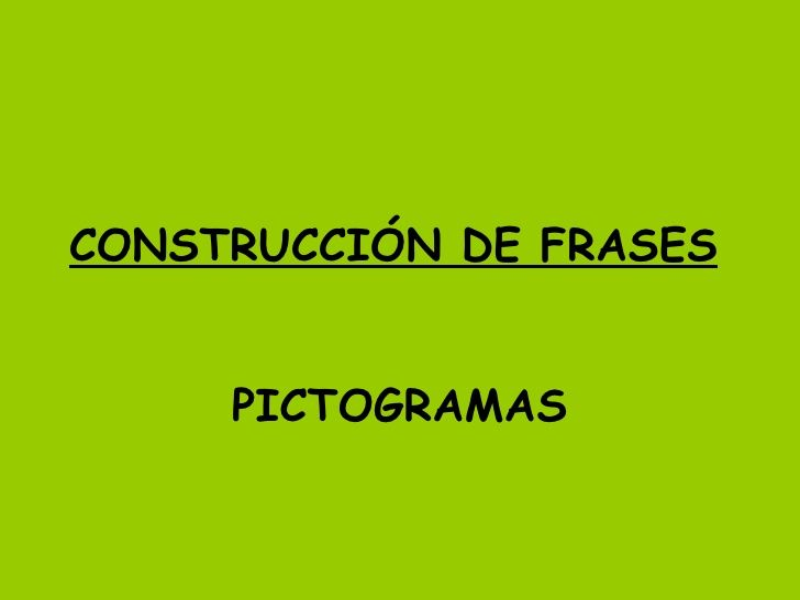 Construccion De Frases
