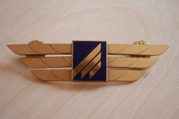 Malév Hungarian Airlines Pilot's Wings by AviationStuff on Etsy