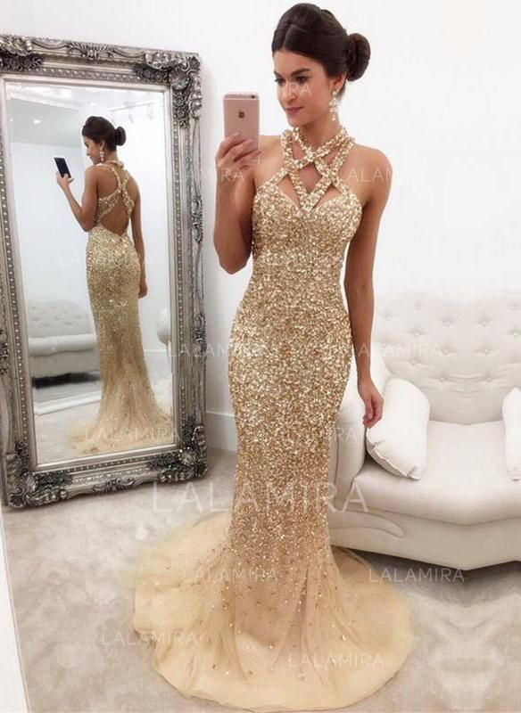 c485ce35056 Trumpet Mermaid V-neck Sweep Train Evening Dress With Beading Sequins  (017146430) - Evening Dresses - lalamira
