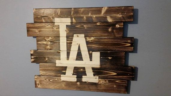 Los Angeles Dodgers by CarolinaPalletDesign on Etsy