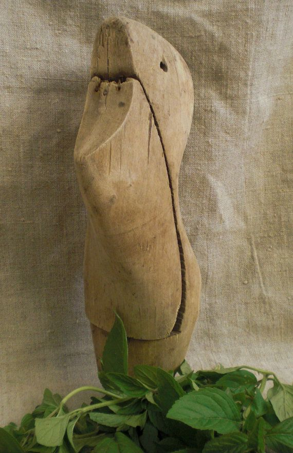 Vintage wooden shoes form wooden shoe lasts by vintagefullhouse, $22.00
