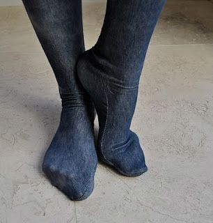 Make your own tights.  I would much prefer to have some nice jersey tights instead of the kind that are like thick pantyhose.