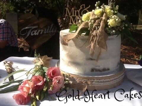 Naked Wedding Cake  http://goldheartcakes.website/weddings/2017/5/5/naked-wedding-cake