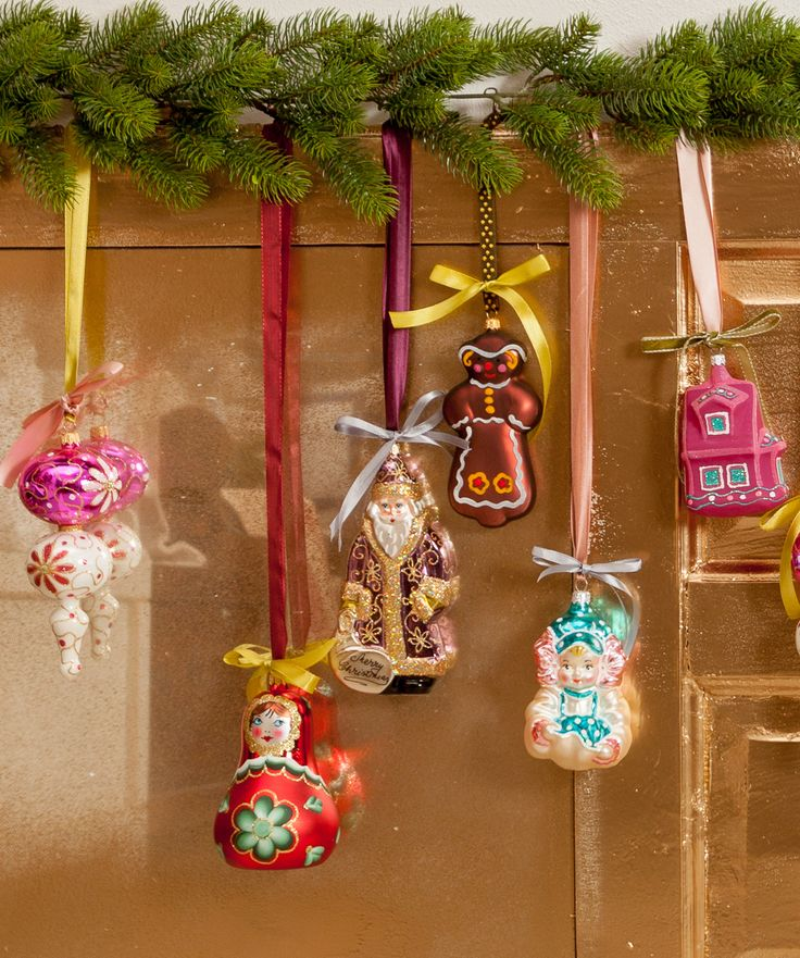 Your Unique Matrioshka, Gingerbread and Angel Christmas Globes