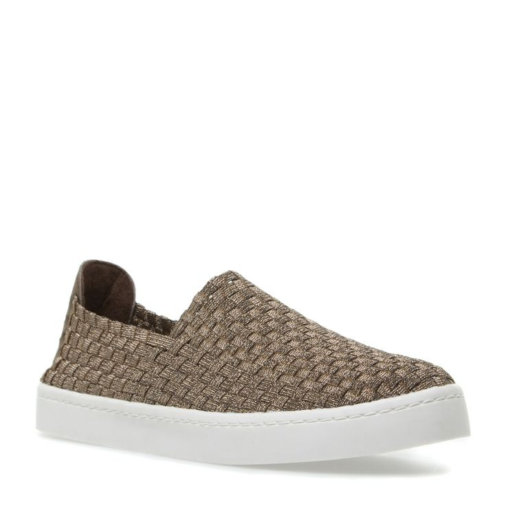 From Steve Madden. Exx is a casual-chic slip-on sneaker with a