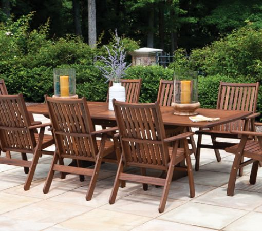 dine in style with one of the casual outdoor dining sets we have at the garden