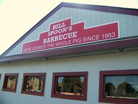 SOUTH CHARLOTTE: looking for real Eastern NC Style BBQ served with homemade vinegar based bbq sauce, mustard based coleslaw, hearty Brunswick stew, made-from-scratch hushpuppies, homemade banana pudding and sweet tea? Check out Bill Spoon's Barbecue. #BBQ