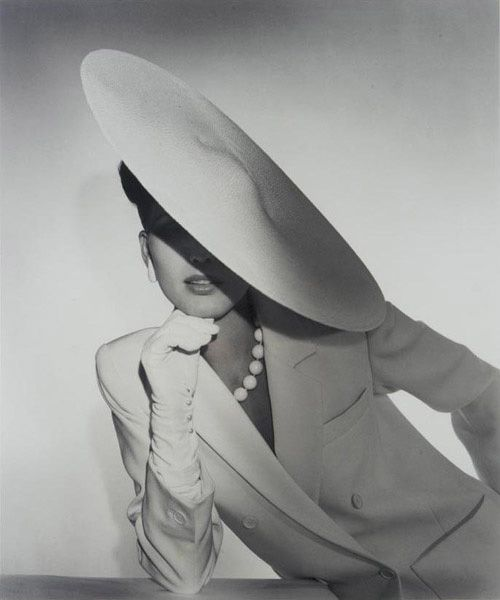 Horst P. Horst picture of a profile hat...hat style now back IN STYLE!  Find…