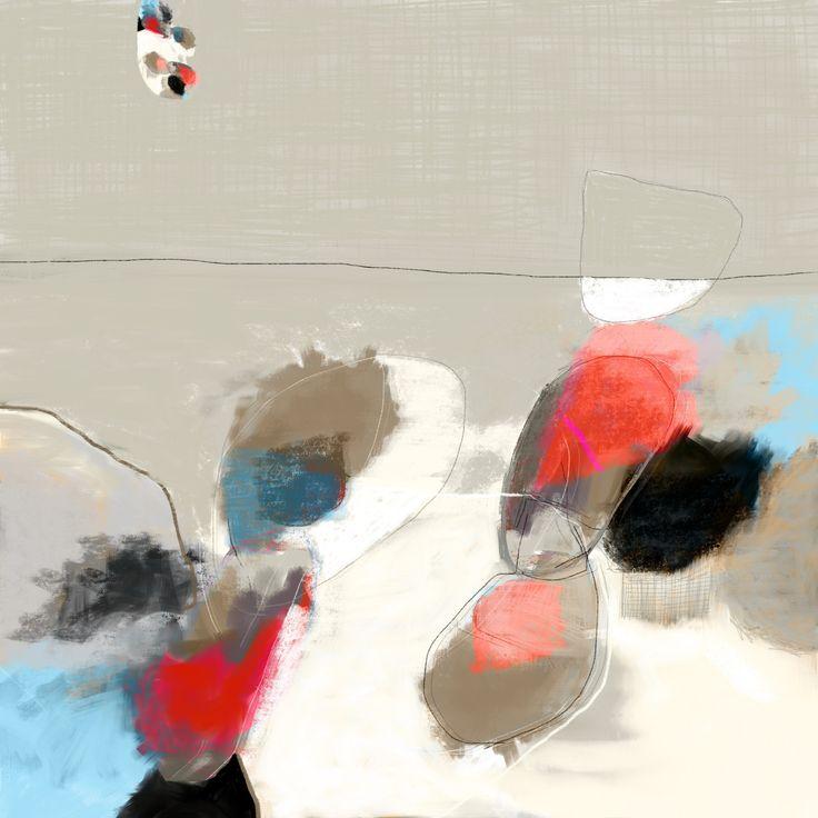 Octave Pixel | peintre abstrait tableaux modernes - Variation, peinture numérique signée par artiste...