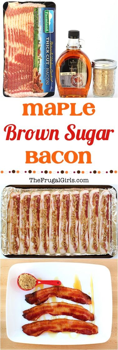 Maple Brown Sugar Bacon Recipe! ~ at TheFrugalGirls.com ~ take your Bacon to a whole new level of amazing deliciousness with this delicious Maple Brown Sugar topping!