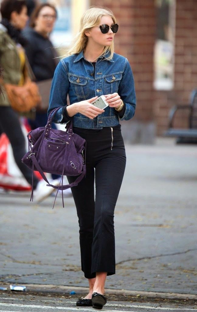 Elsa Hosk Shows Off Her Street Style in NYC - Fashiondesain.com